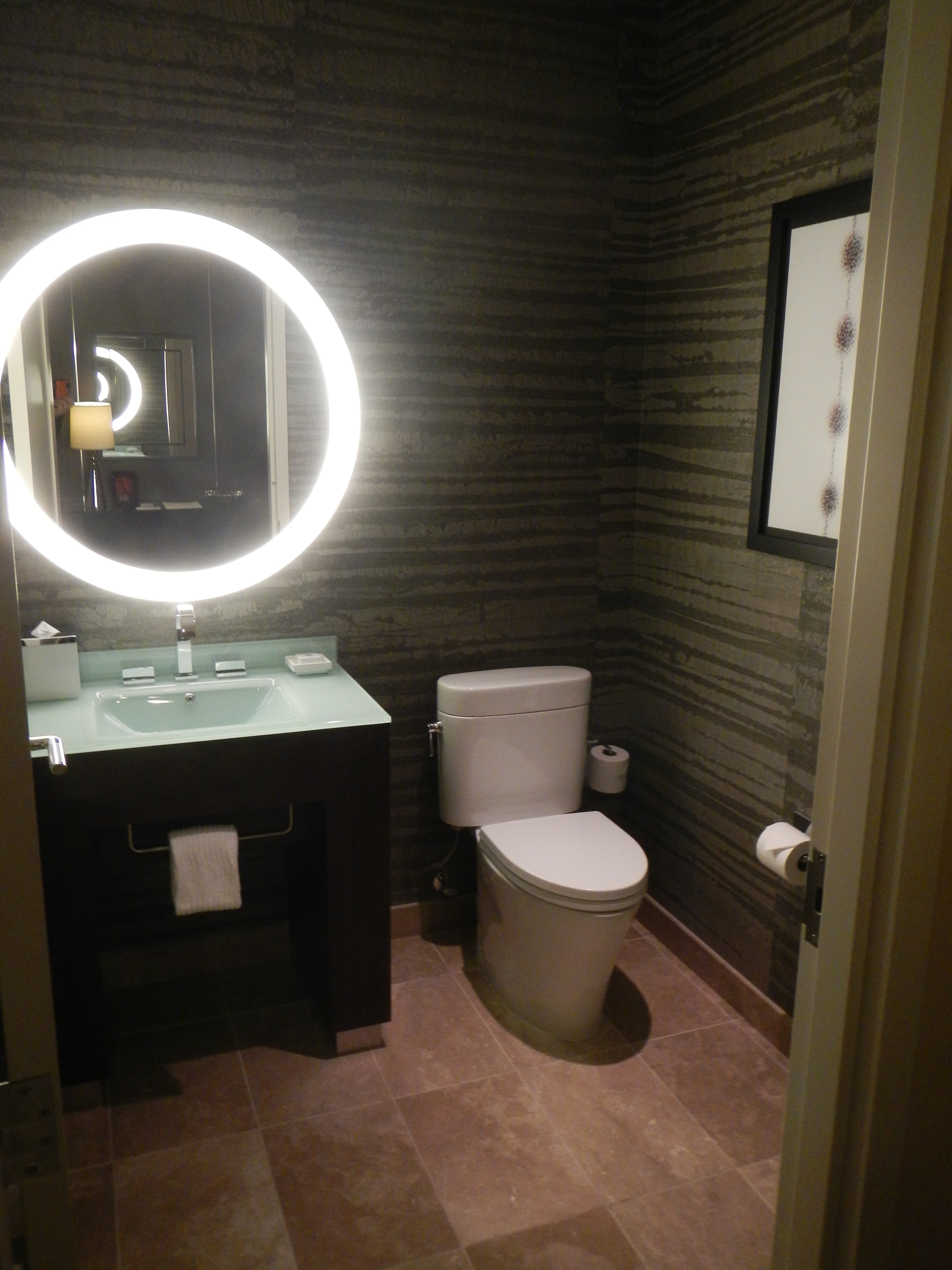 The first bathroom in our Sky Suite.