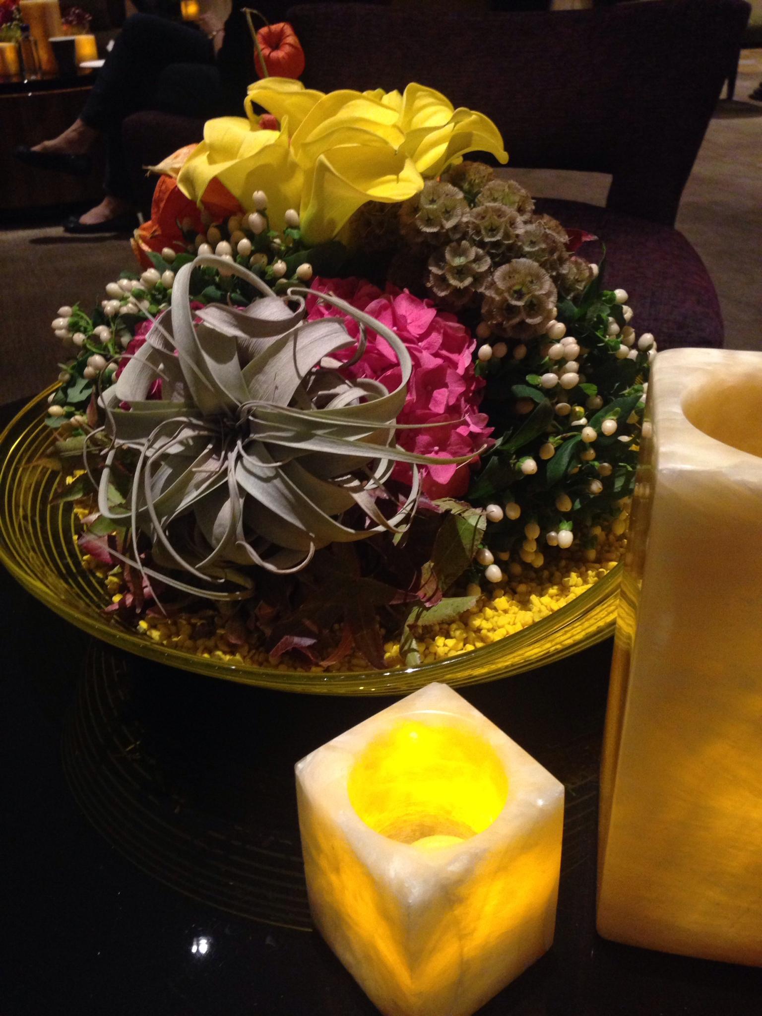 A pretty flower arrangement in the lounge.