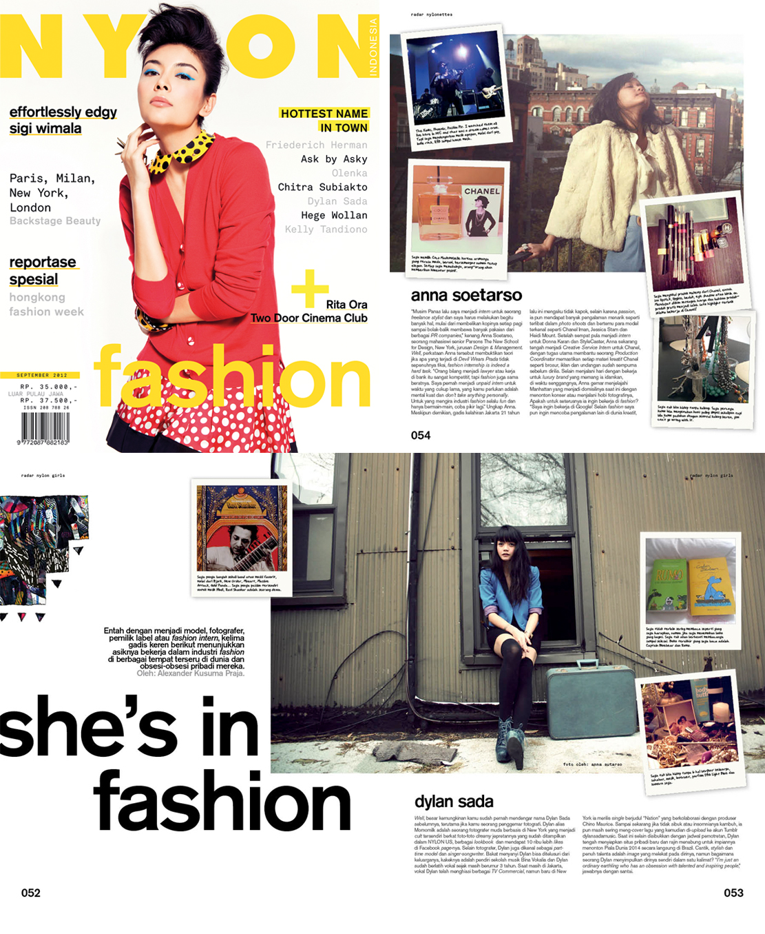My photograph of Dylan Sada from  The Traveler  was published in NYLON Indonesia, September 2012 Edition.