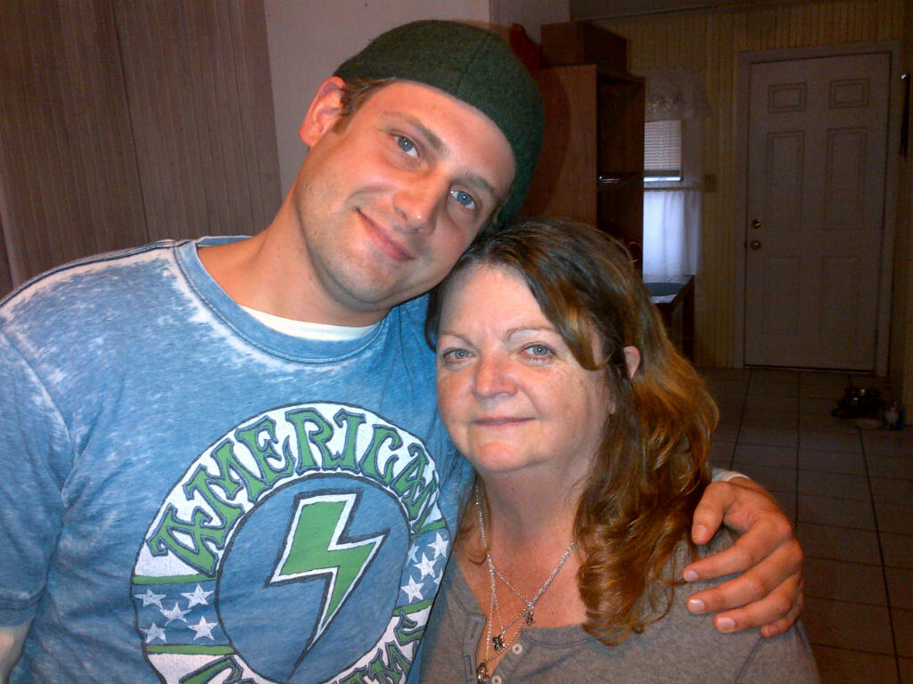 My mother, pictured with Andrew Biltz. Photo taken at my mother's home in Hampton Beach, New Hampshire.