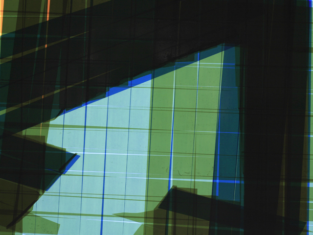 Tape Noir Glimpse_51, 2012  Packaging tape on acrylic panel  with translucent resin light box  20.5 x 27 x 6 inches (52 x 68.5 x 15.2 cm)