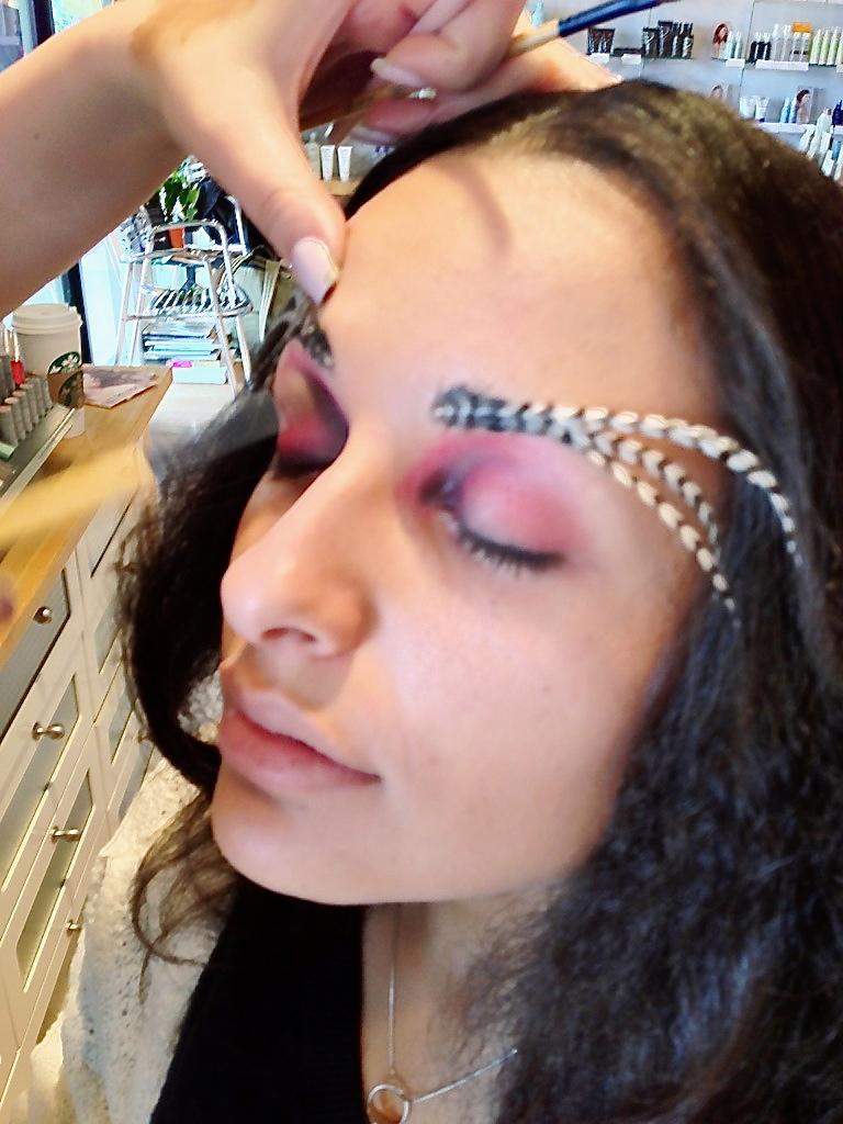 Applying Eyebrows
