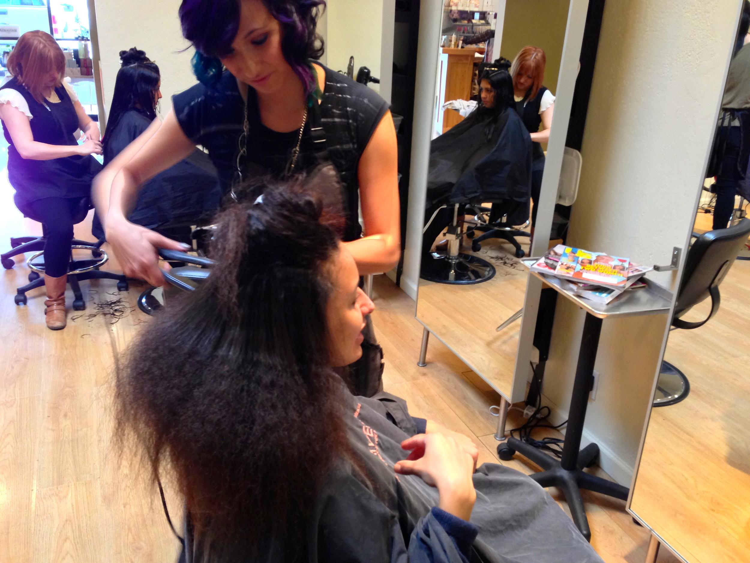 Paola Doing Hair