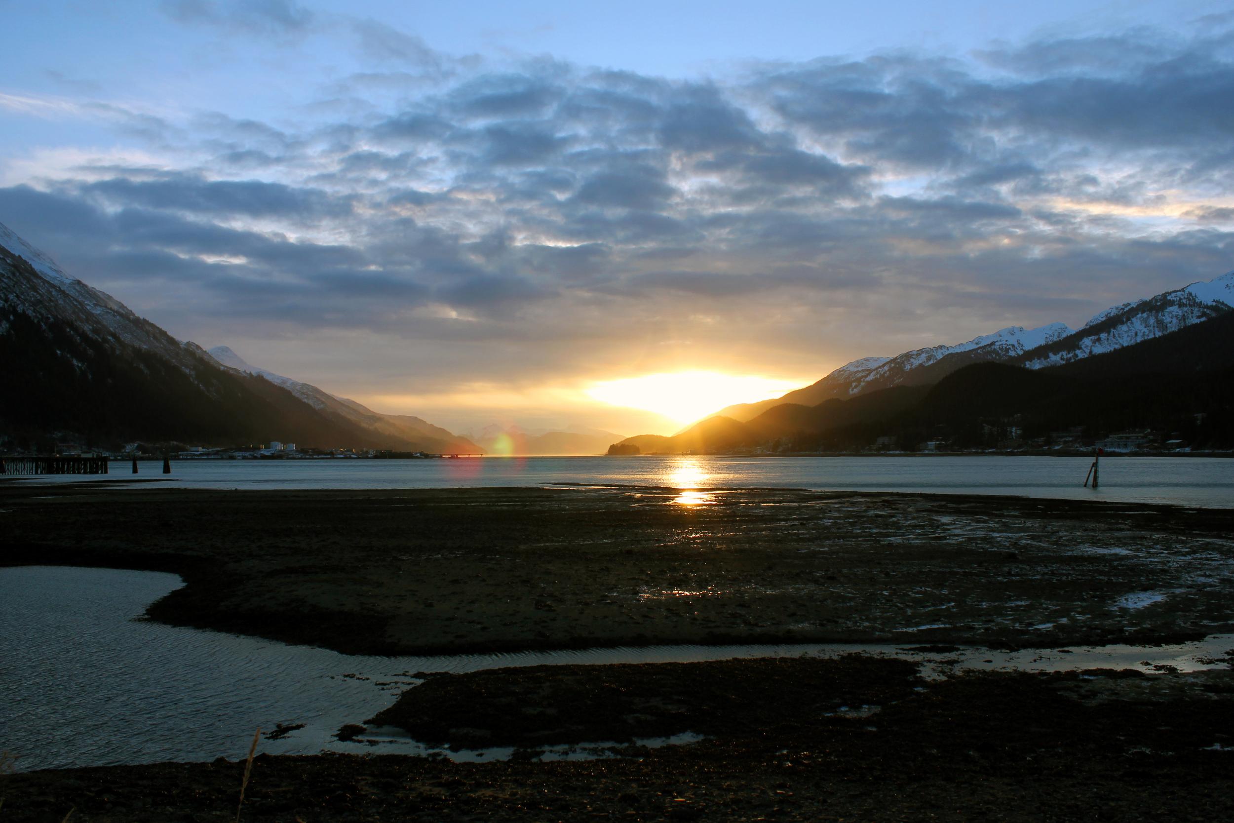 Sunrise over Gastineau Channel