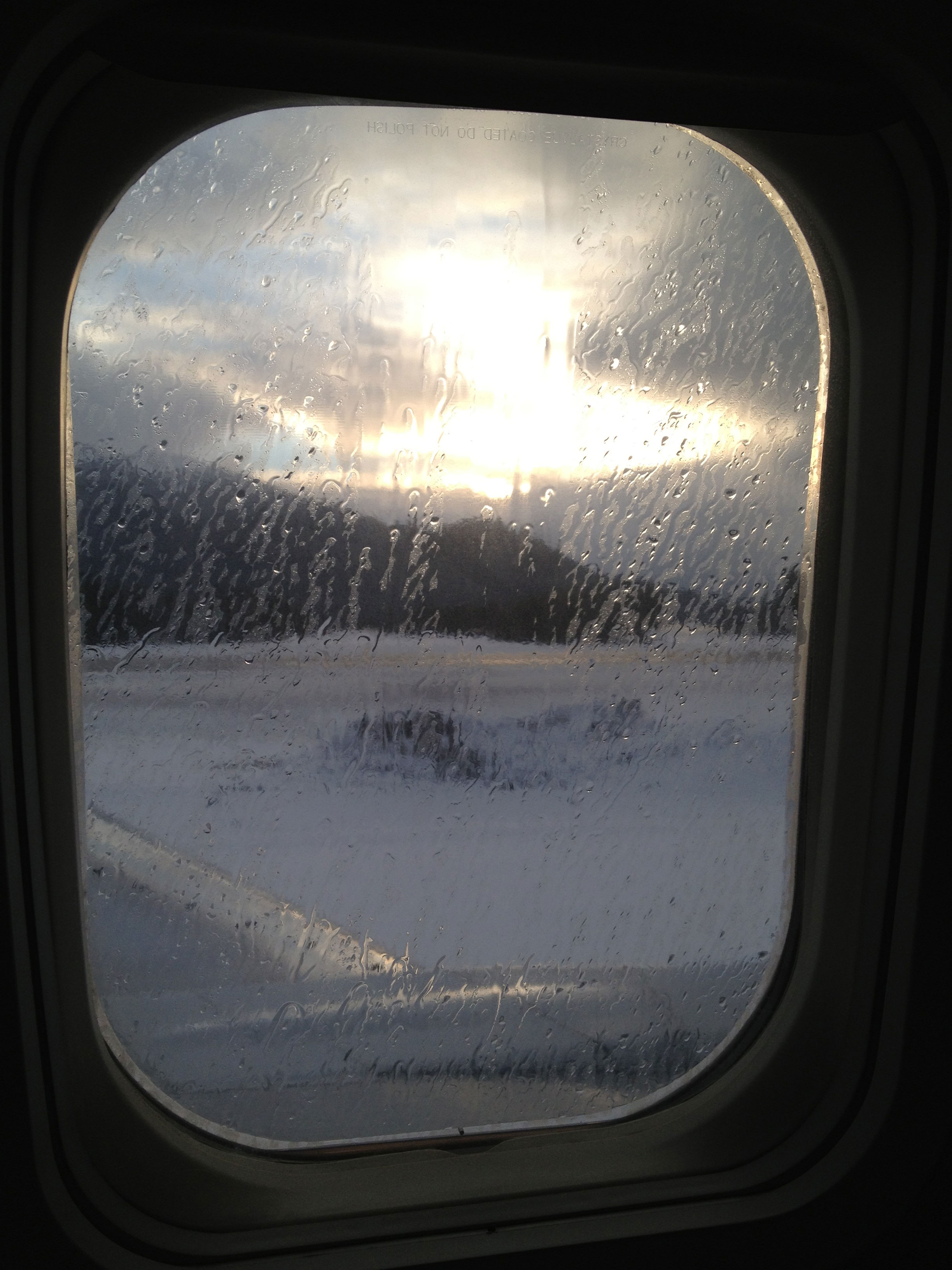 It never fails. The moment I depart rainy Juneau, the sun starts shining!