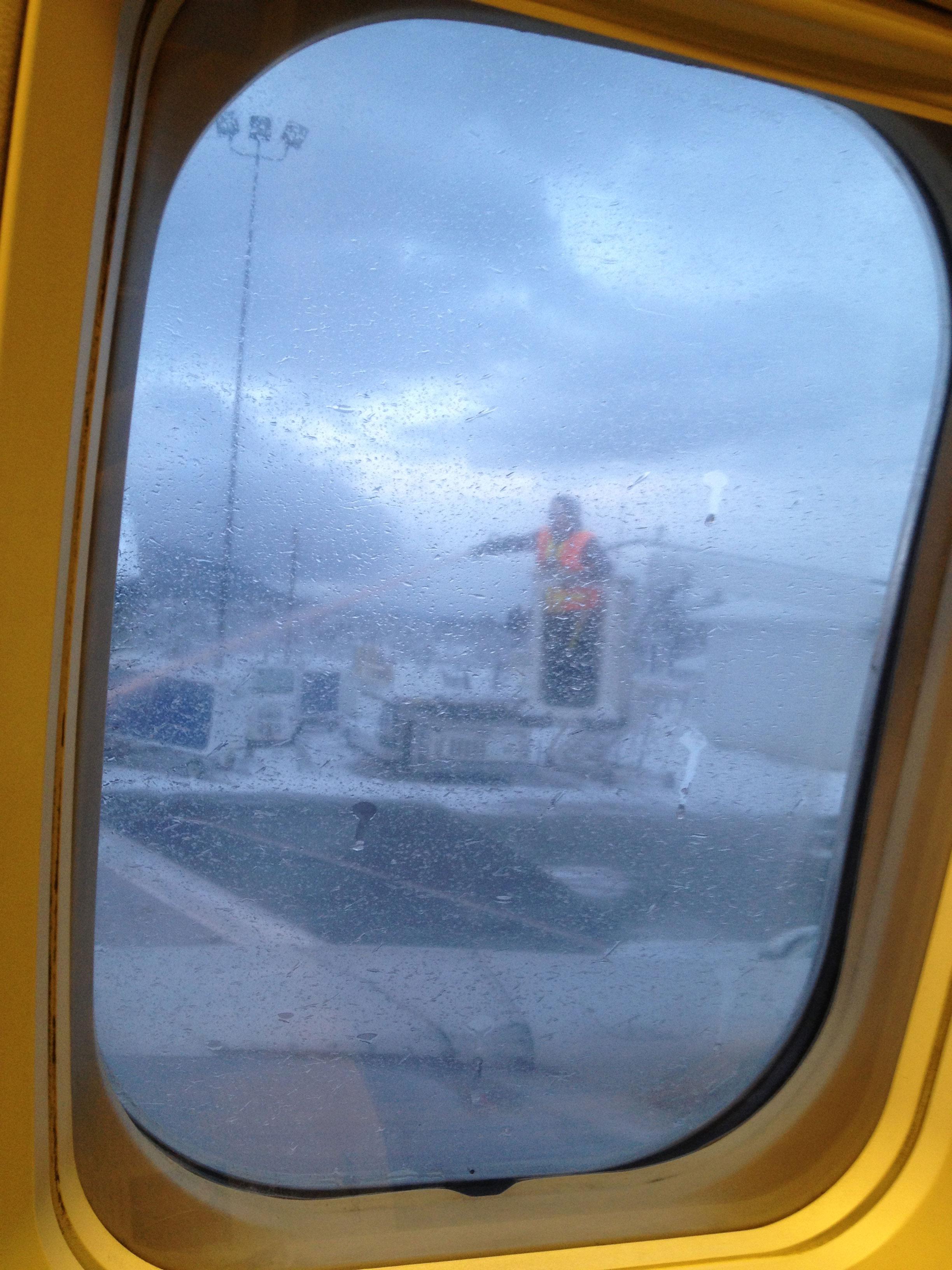 De-icing the plane in Petersburg, Alaska.