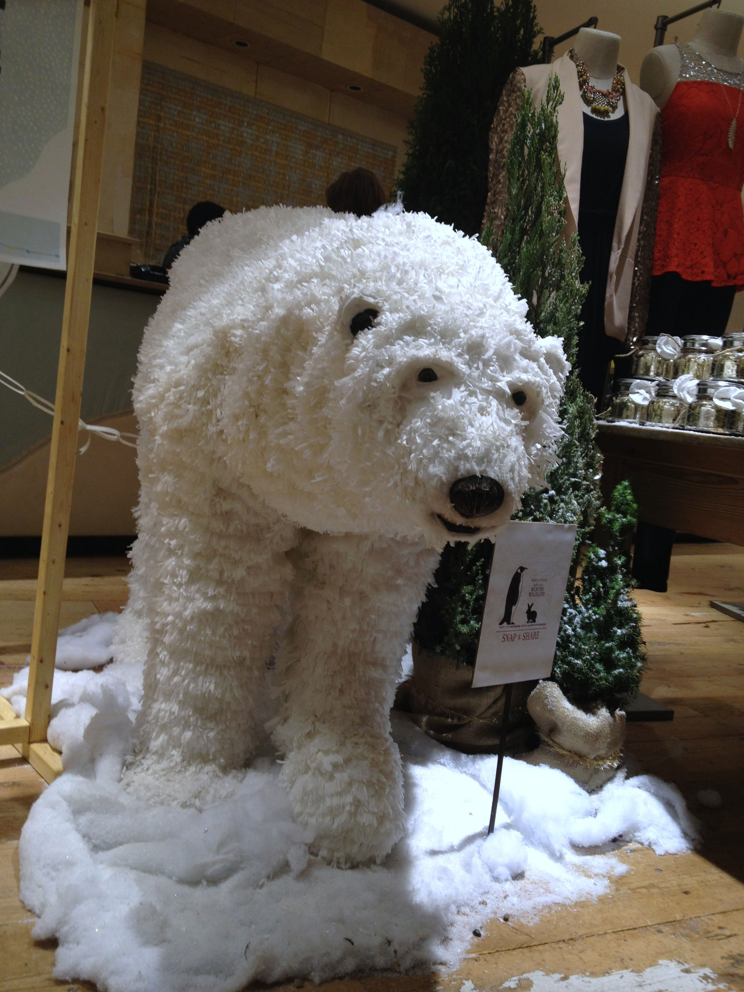 A little bit of Alaska at the  Anthropologie  store at  The Summit  in Birmingham, Alabama.