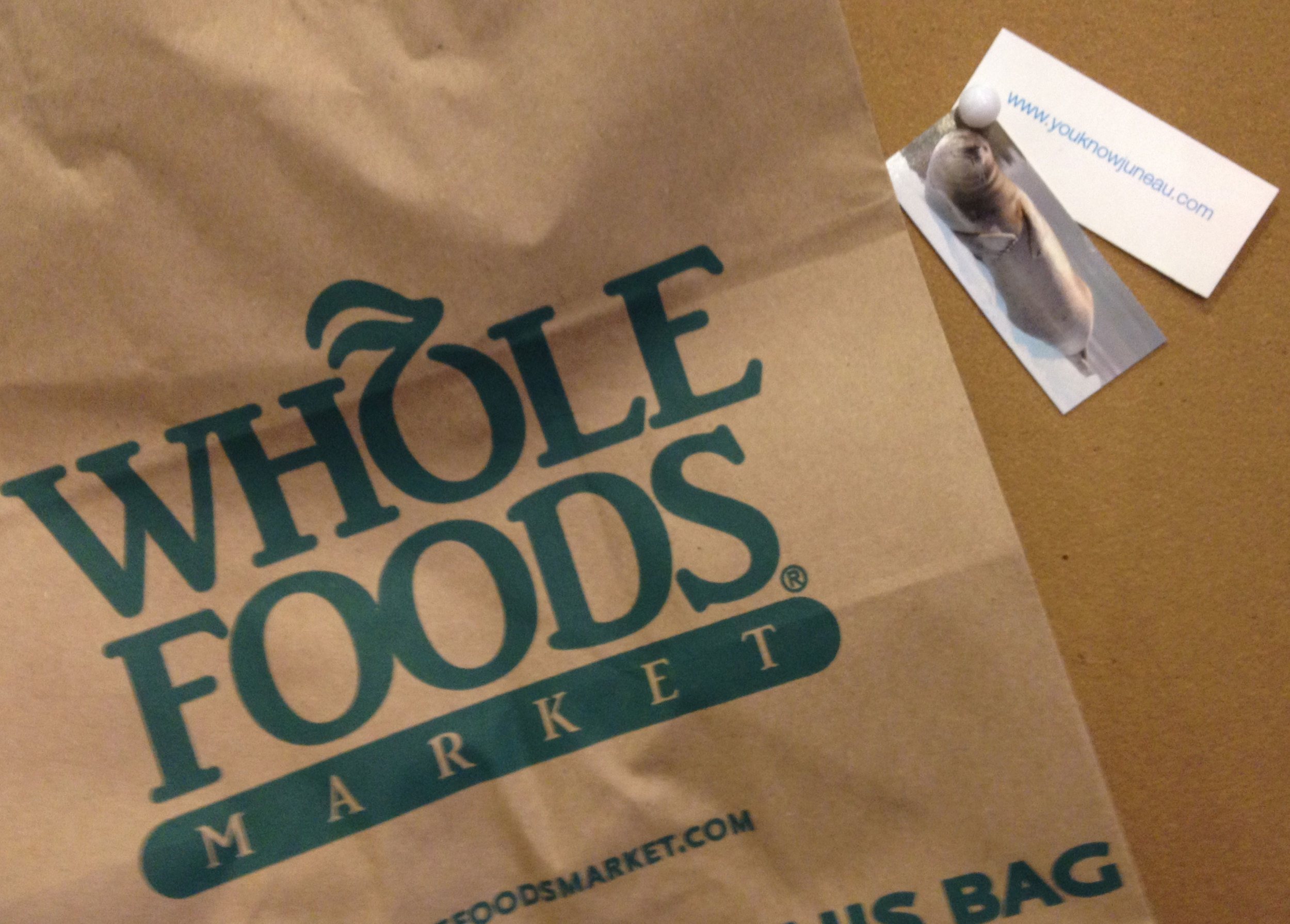 Shameless promotion of my site at Whole Foods.