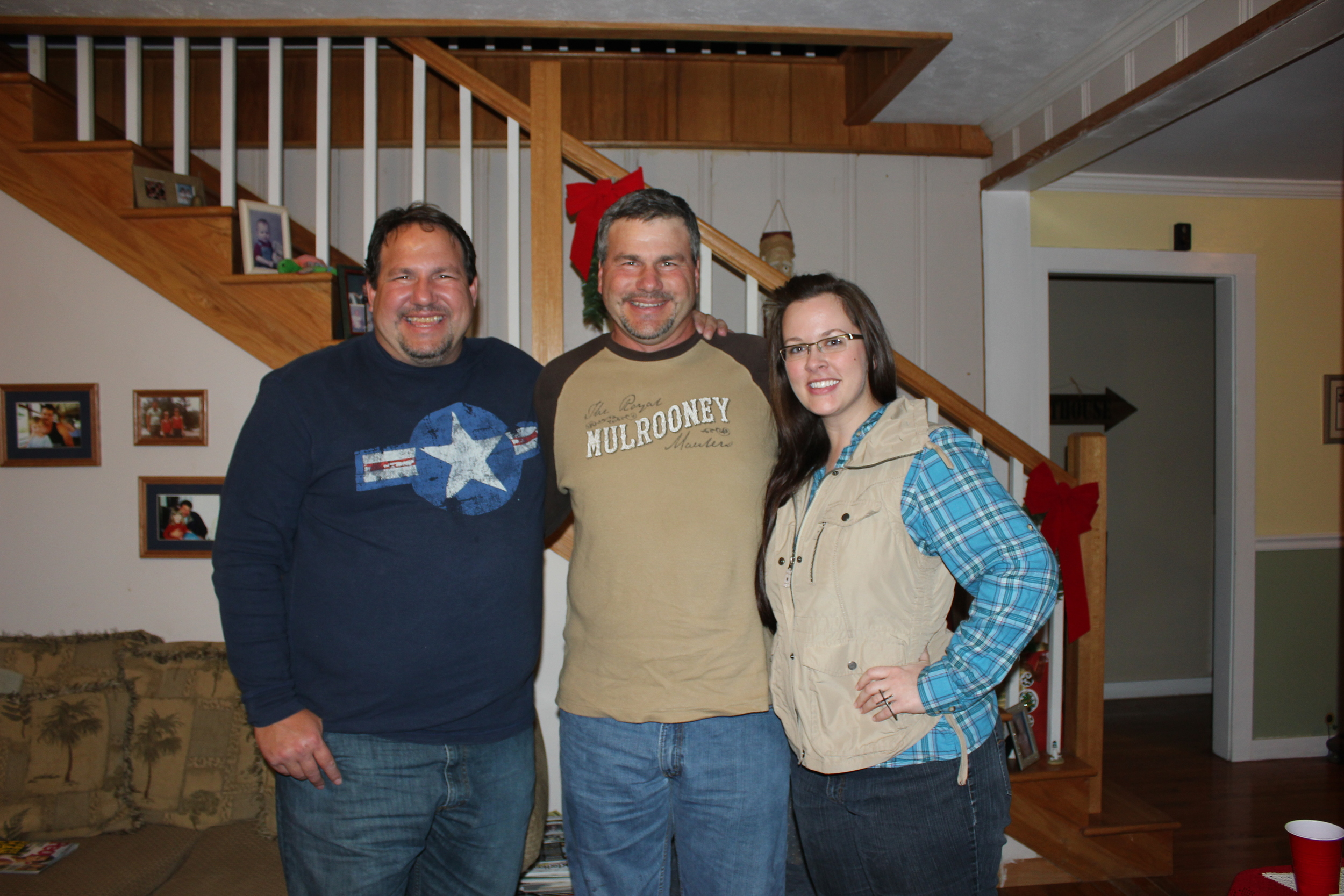 With my cousins, Tim and Ronnie. Good people.