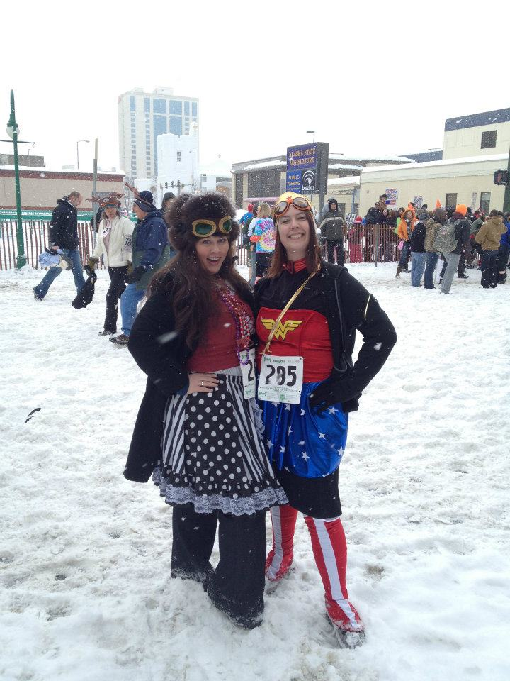 Running with the Reindeer, alongside Wonder Woman.