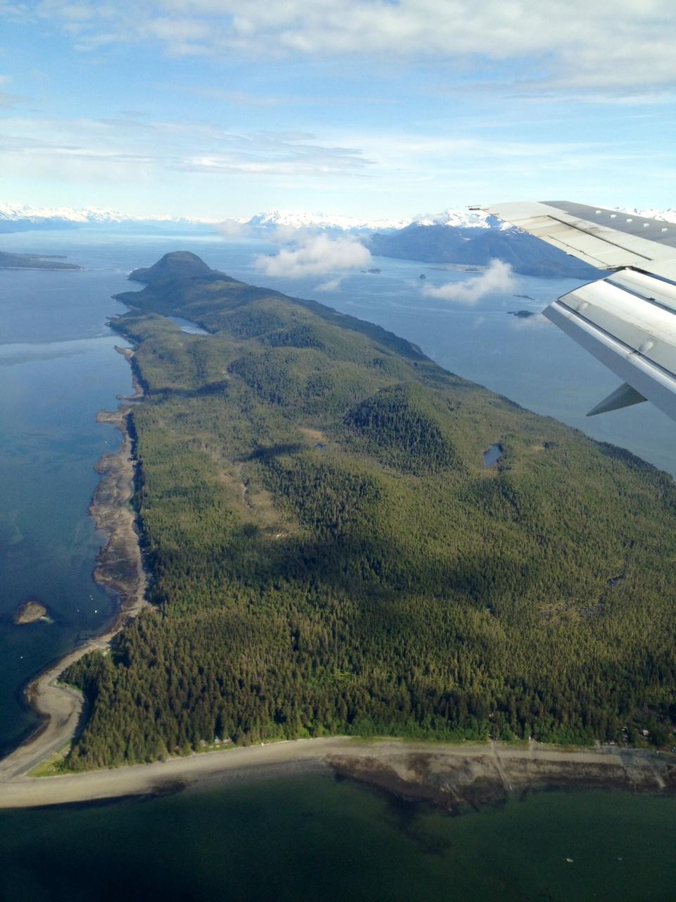Somewhere in Southeast Alaska (near Juneau).
