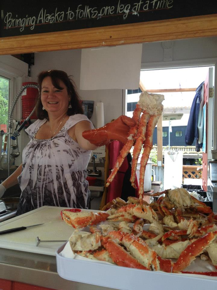No trip to Juneau is complete without a stop at  Tracy's Crab Shack . She's got the best legs in town!