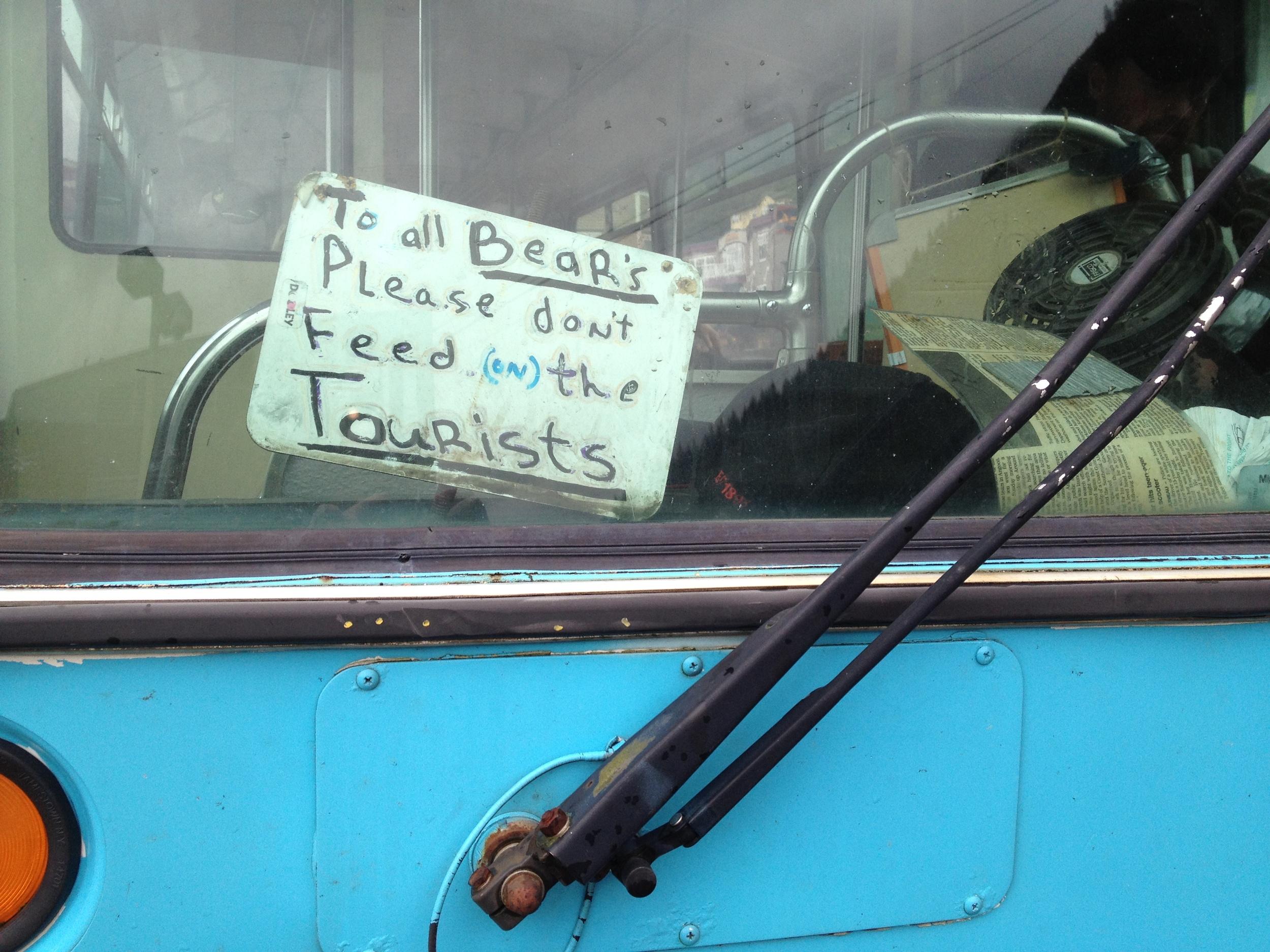 Seen in downtown Juneau.