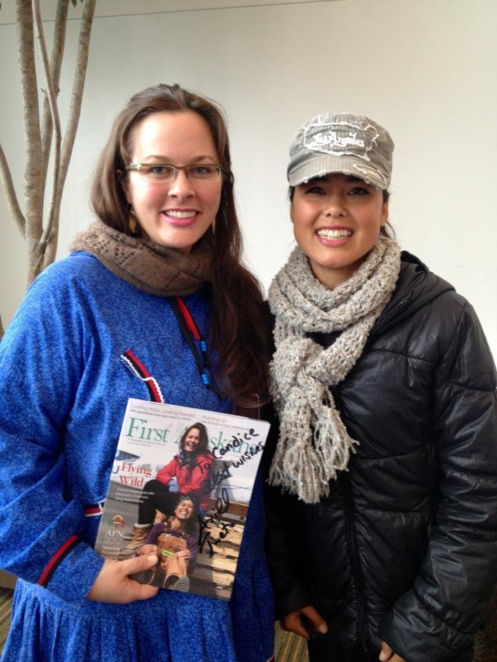 """With Ariel Tweto, star of the Discovery Channel's """"Flying Wild Alaska.""""   She's just as beautiful and gracious in person as she is on the show!"""