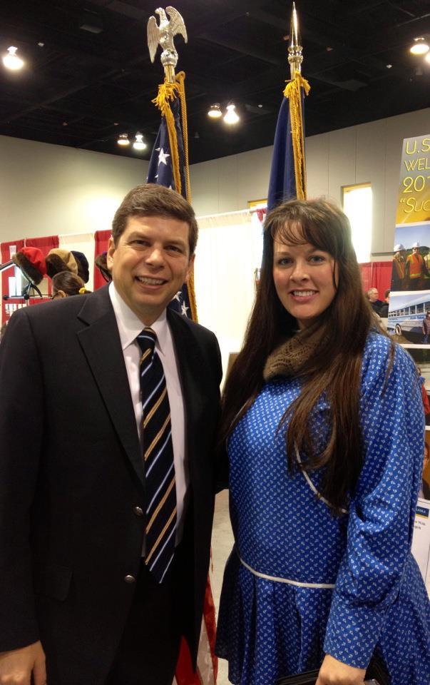 With U.S. Senator Mark Begich at the Alaska Federation of Natives.