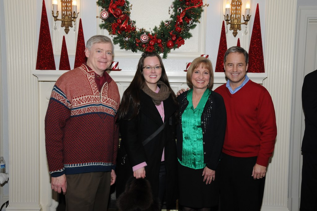 With Alaska Governor Sean Parnell (right), the First Lady, Sandy Parnell (second to right), and Lieutenant Governor Mead Treadwell (far left) at the Governor's Mansion.