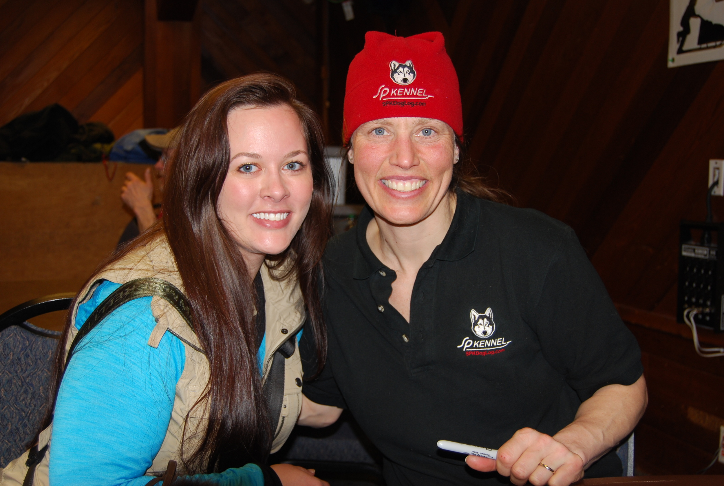 With Aliy at the post-race Musher Signing in Nome. What an awesome athlete!