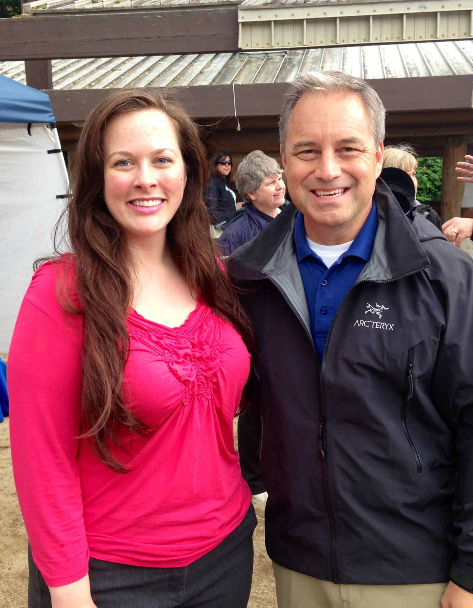 With Governor Sean Parnell