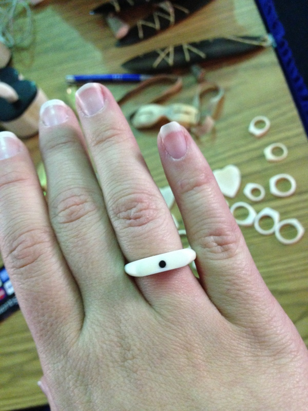 Ivory and baleen ring - one of my big purchases this year.