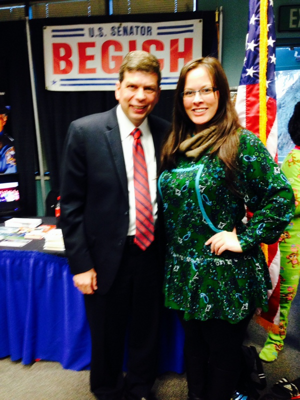 With U.S Senator Mark Begich.  I'm wearing a one-of-a-kind kuspuk made by my Momma.
