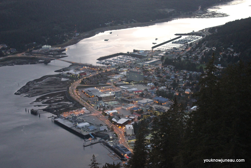 Aerial view of downtown Juneau, September 24, 2014.