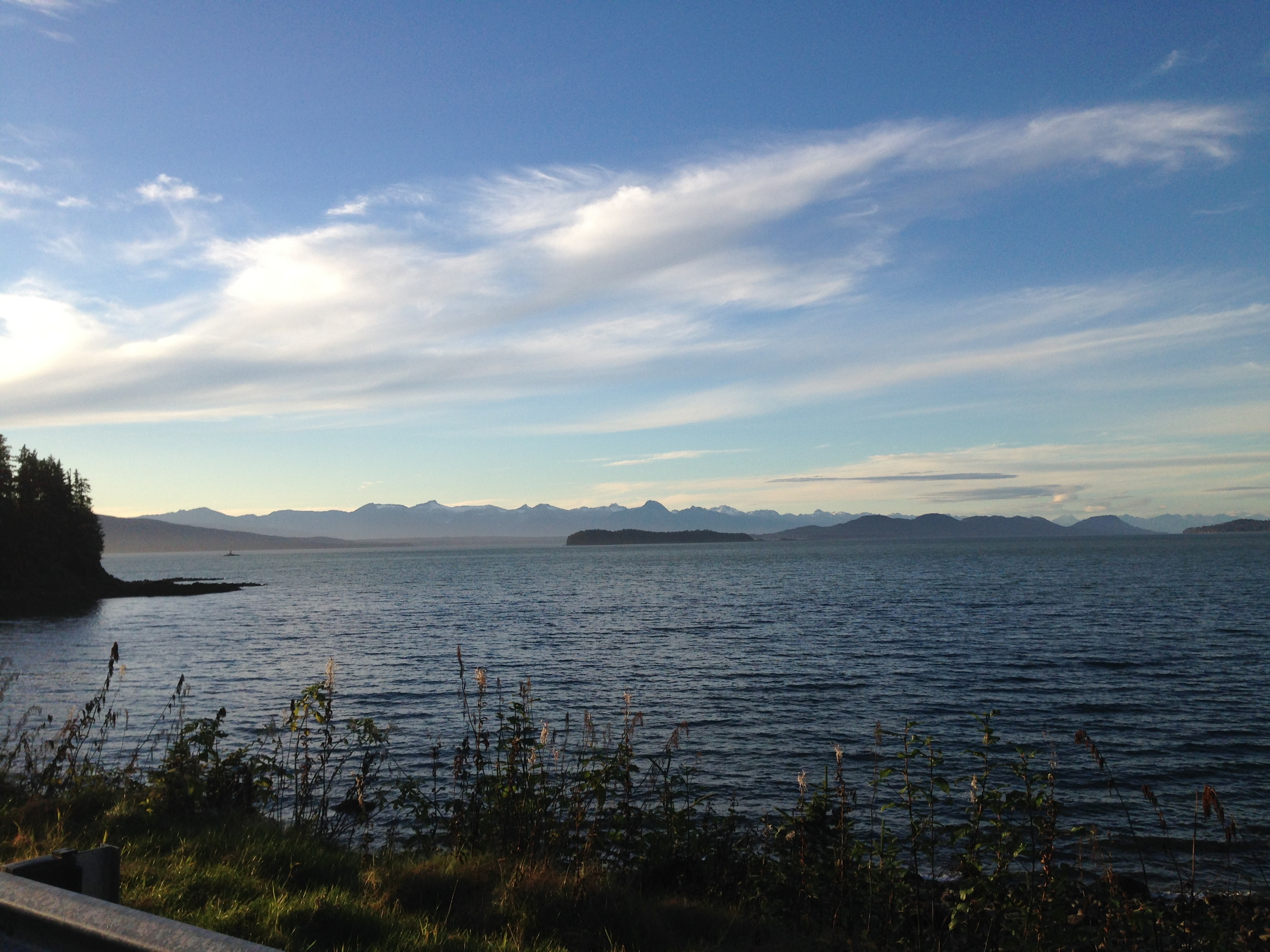 The view north from False Outer Point on Douglas Island.