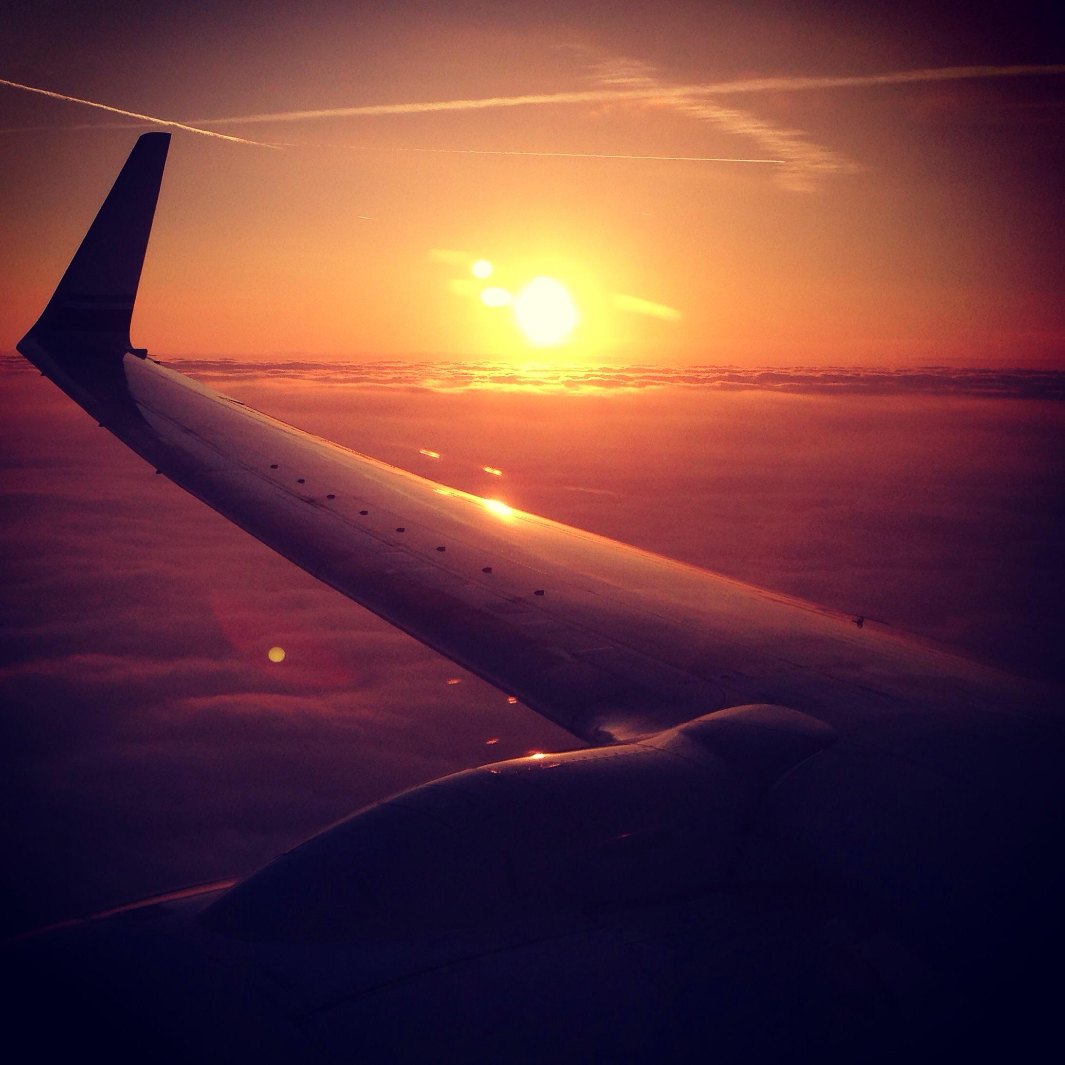Somewhere over Chicago...