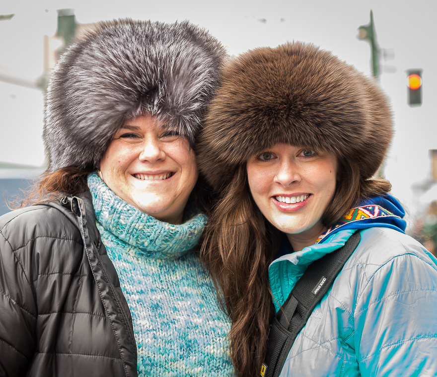 With my friend, Cyndi, at Fur Rondy in Anchorage.  Photo courtesy of Bartz Englishoe Photography.