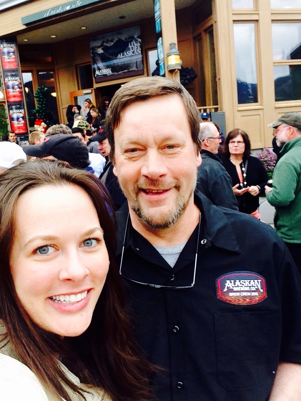 With co-founder, Geoff Larson. Learn more about the founders, Geoff and Marcy, in this  Craft Beer feature .