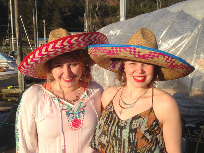 Cheslea and Aileen rocking the sombreros.