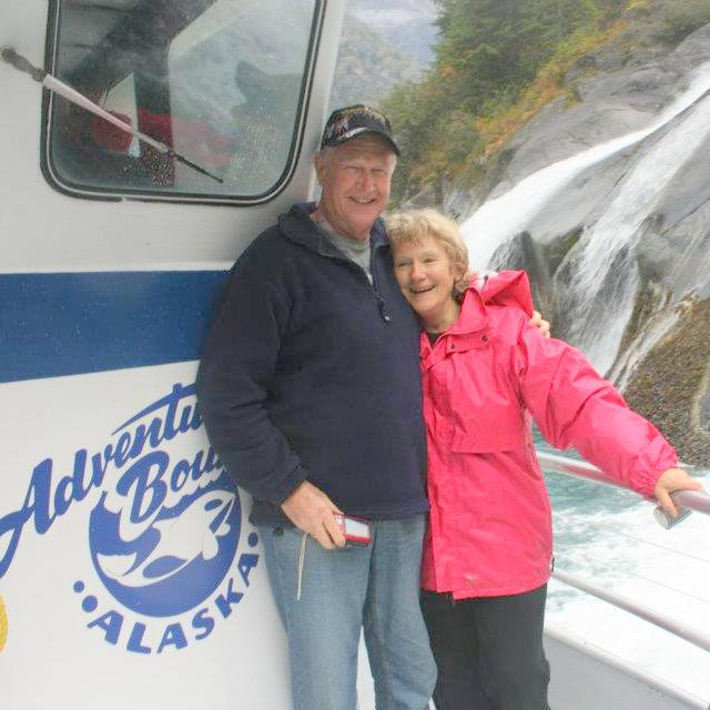 FLASHBACK: The precious couple on an Adventure Bound cruise to Tracy Arm Fjord in 2011.