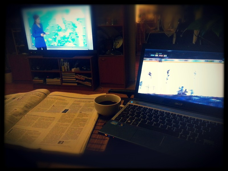 Mornings with the morning paper, coffee, NHL and news