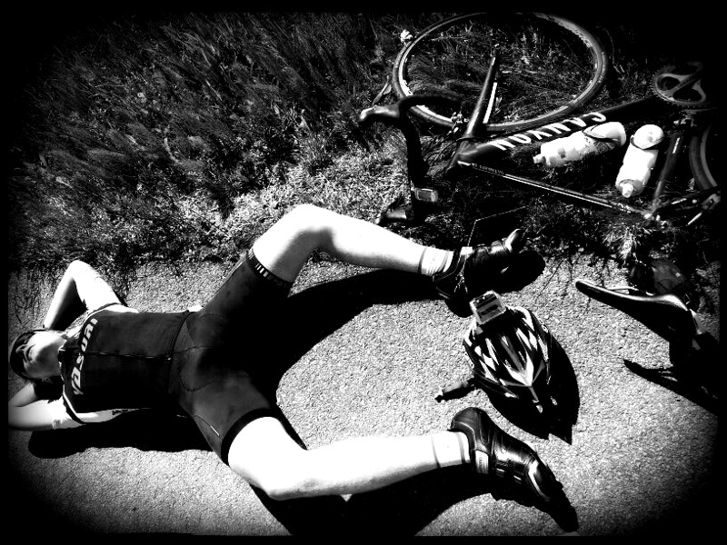 Exhausted after an all out 40 km tempo in 2012