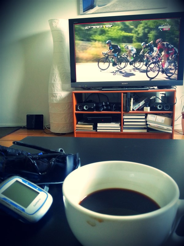 Post ride Tdf with Italian coffee #awesomeness