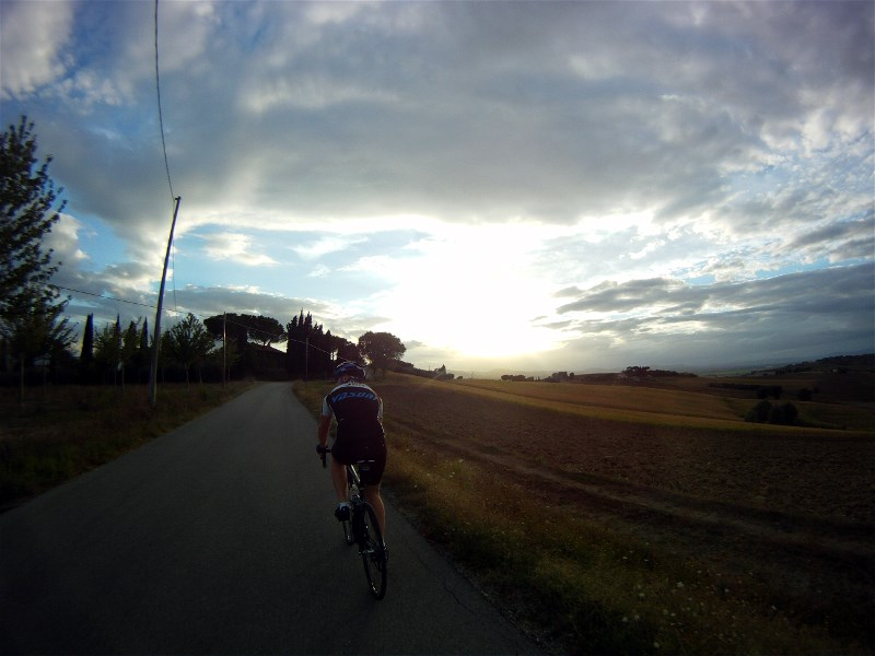 Evening ride in Italy