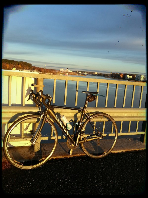 Early morning ride before work