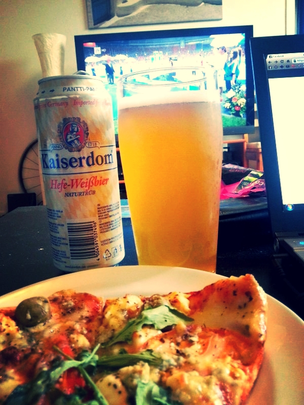 Well earned post race pizza and beer