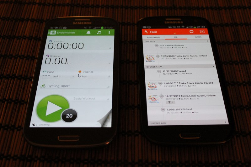 2 x Galaxy S3 phones takes care of back-up tracking