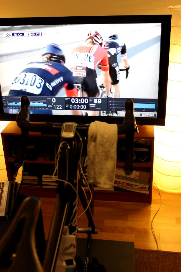 Watching Tour of Qatar while training