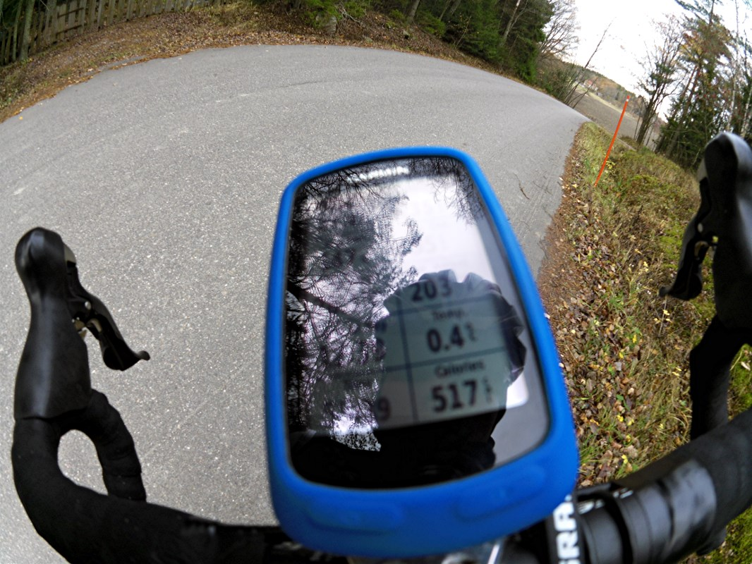 It was pretty cold, after 1 hour of riding the average temperature was 0.4 degrees..