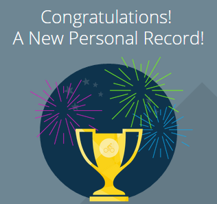Garmin Connect has a way to congratulate you, with neat graphics ;)