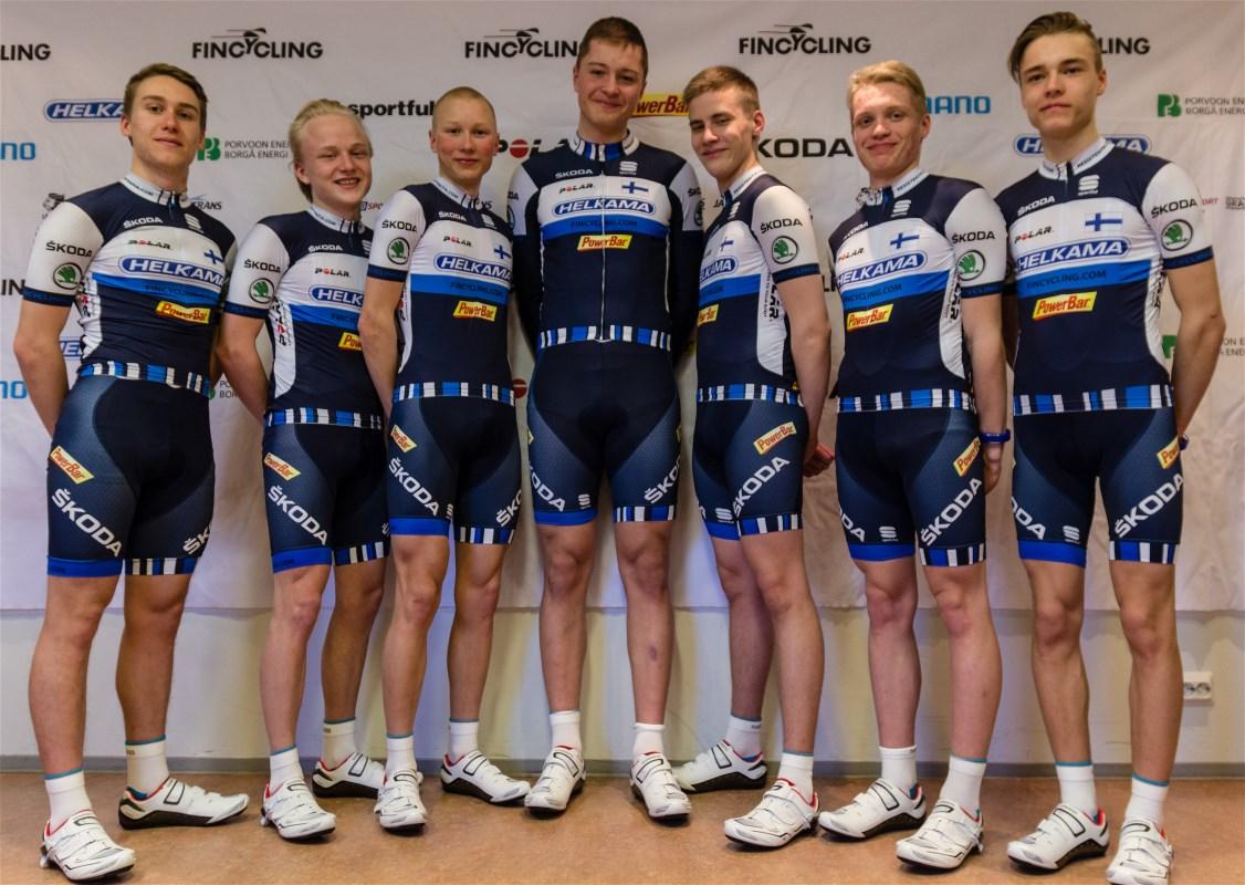 From left: Erik Relanto, Jonne Itkonen, Jaakko Hänninen, Jesse Uusiperhe, Aku Keloneva, Simo Terävä,Joel Bergman.