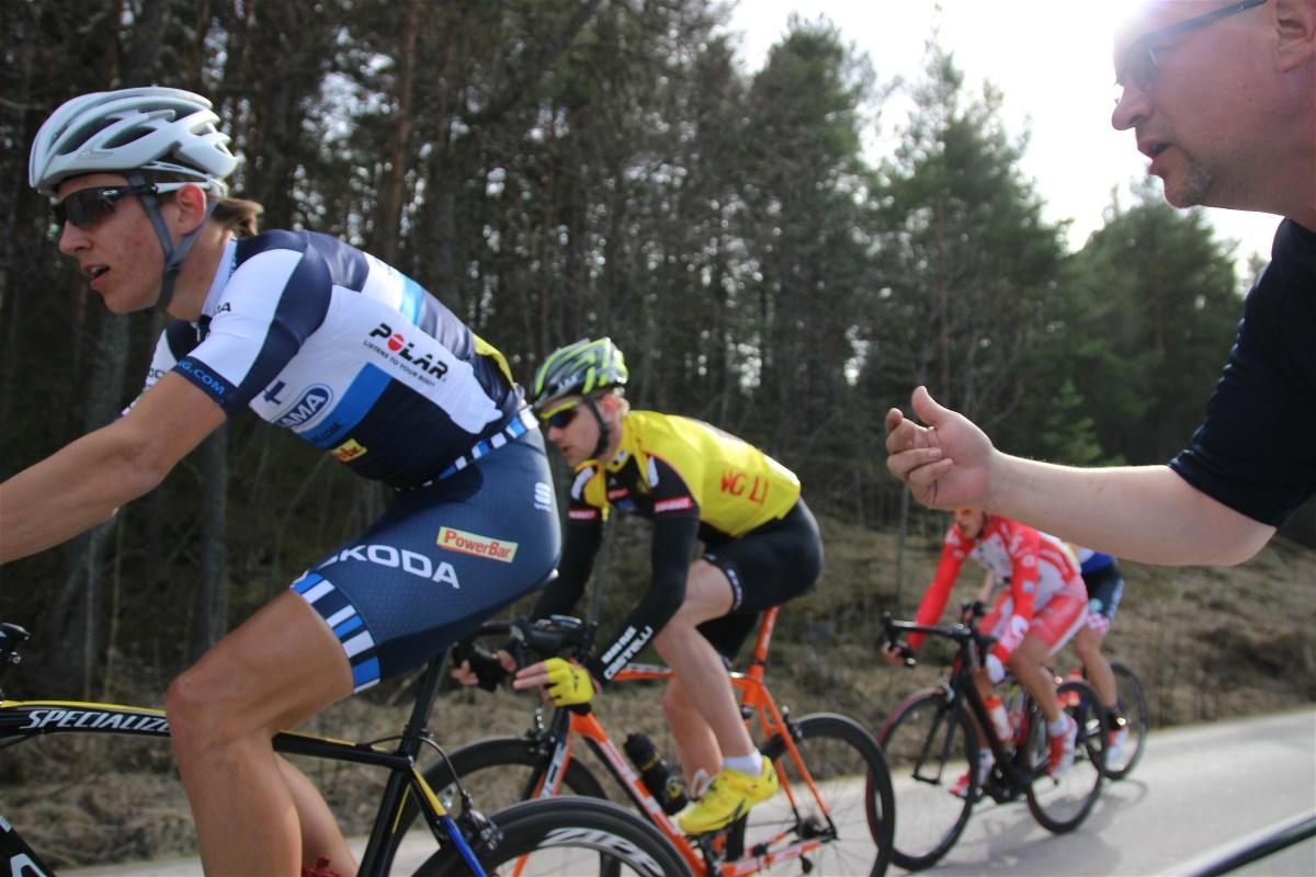 Last year Aleksi Hänninen was riding strongin the only big breakaway in Simon Muistoajot