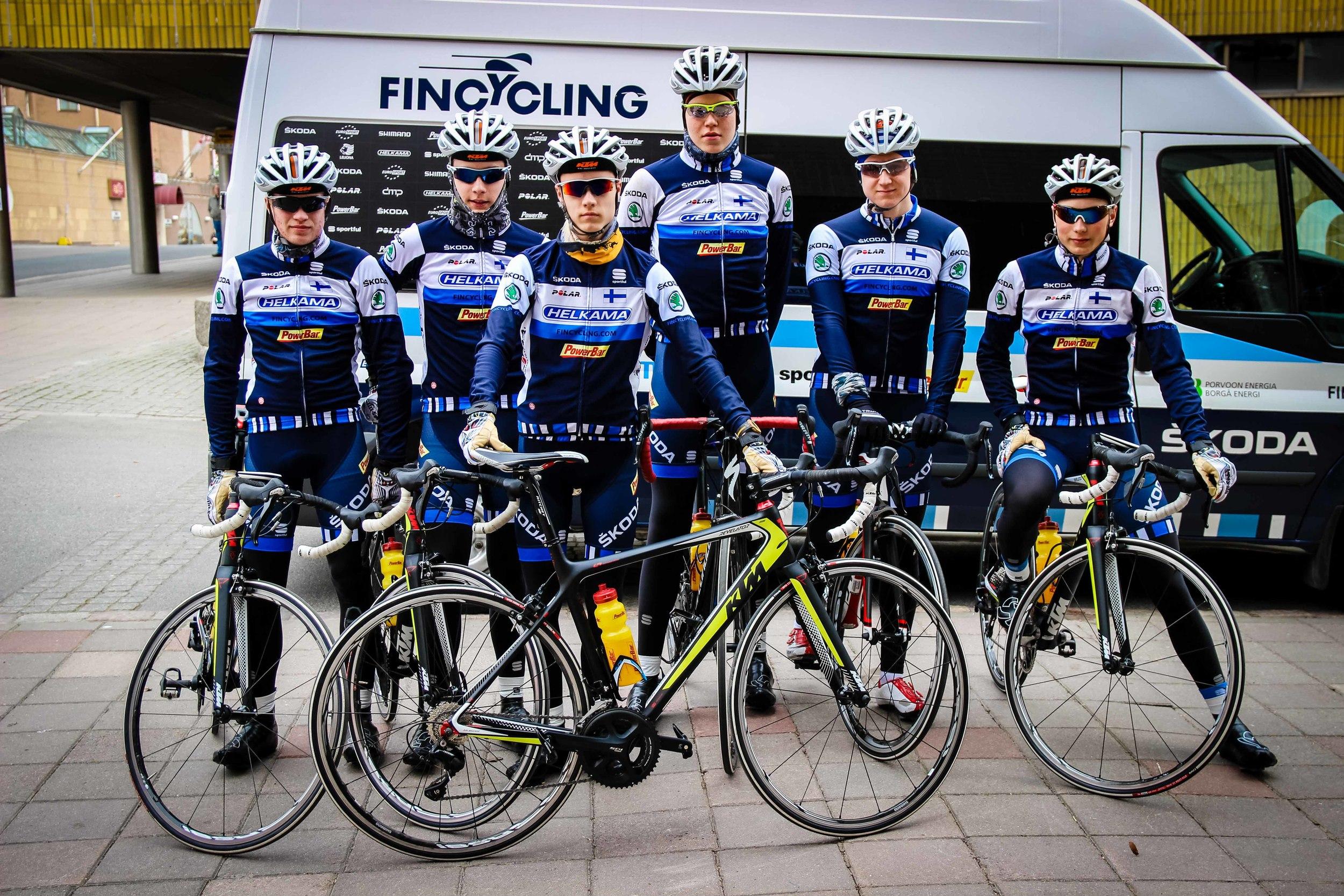 Team from left, Terävä, Keloneva, Bergman, Hirvenoja, Nordström and Hänninen