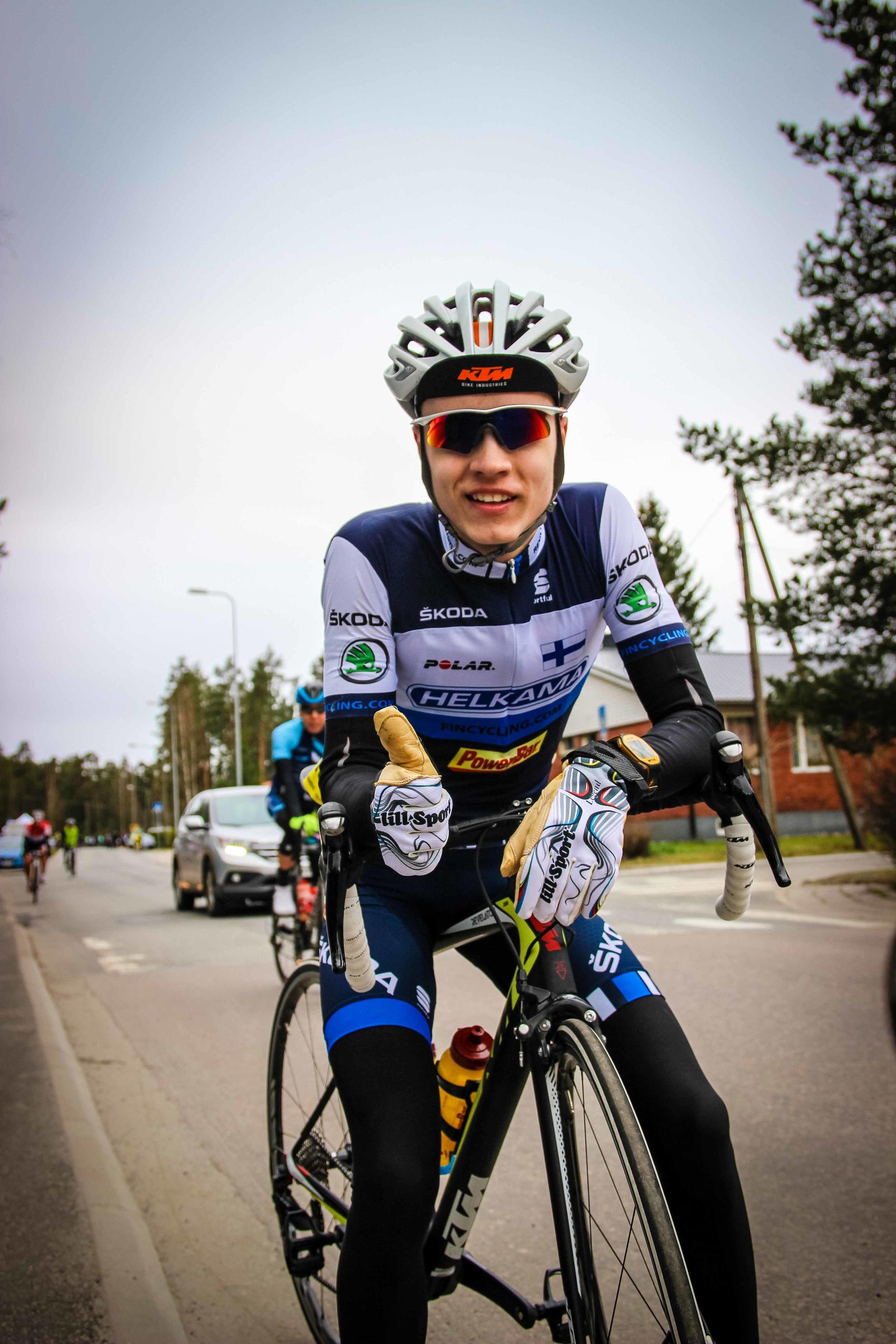 Joel Bergman happyafter the race