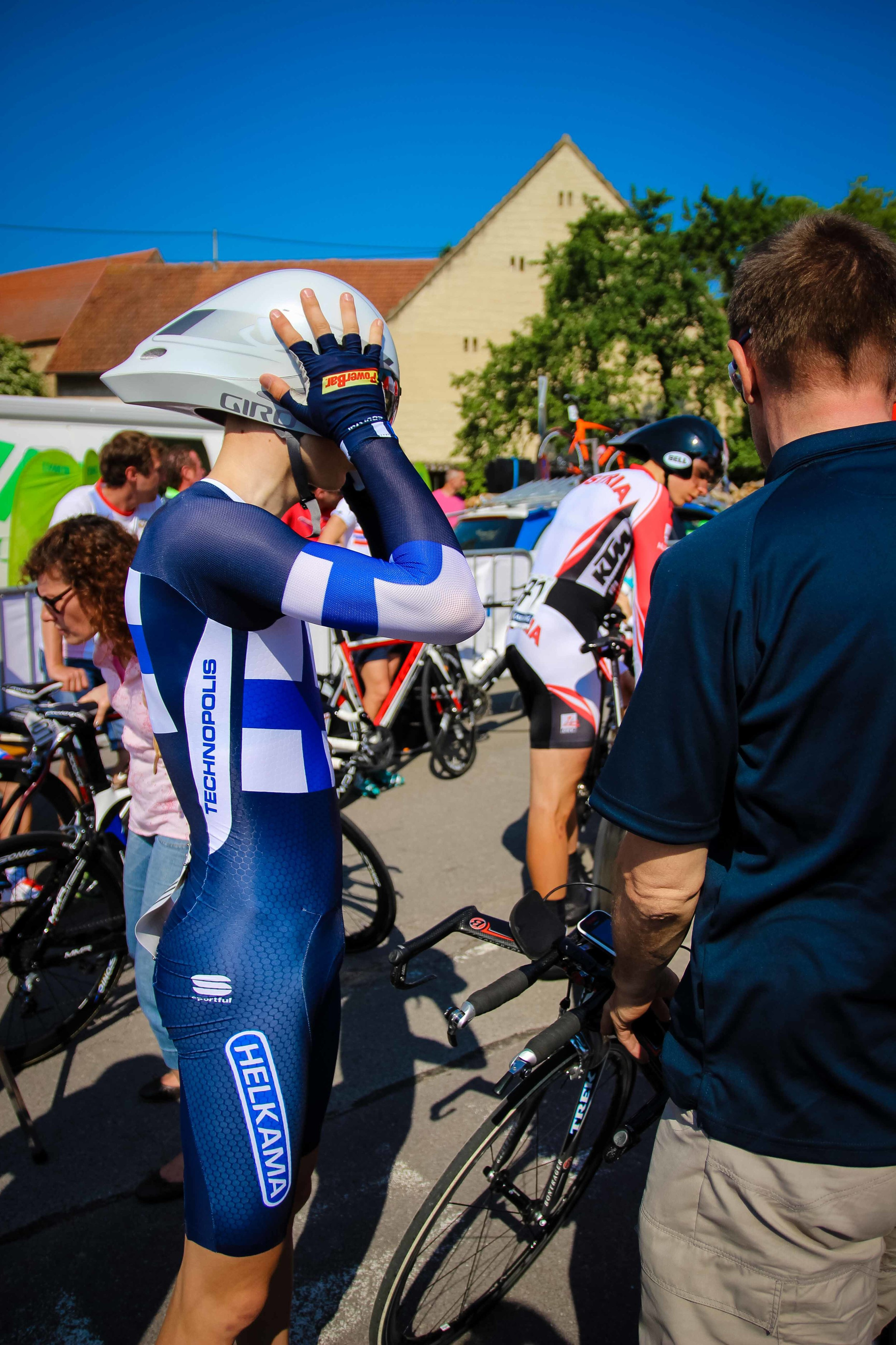 Chatting with Toomas before the start