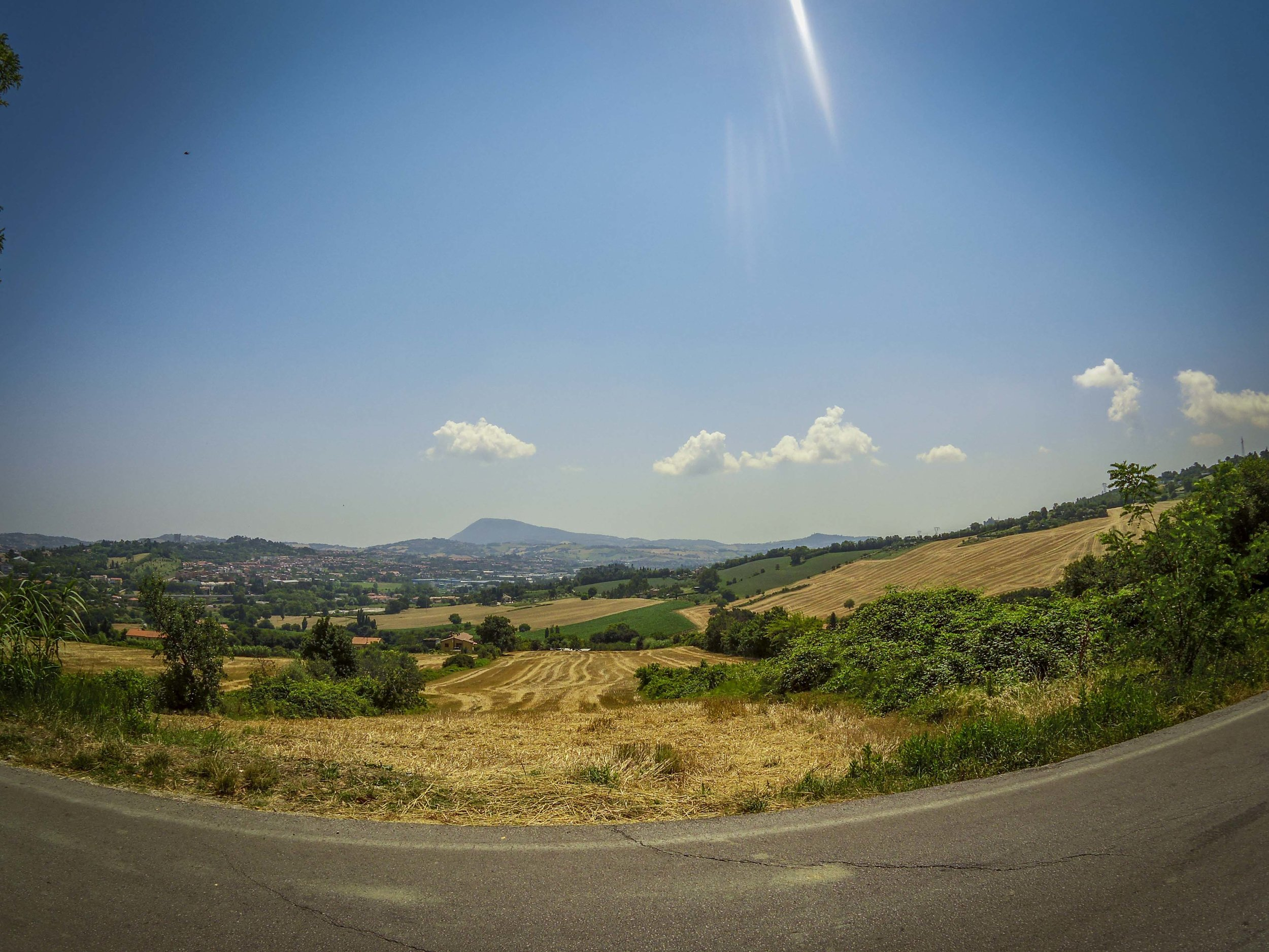 Monte Conero in the horizon.