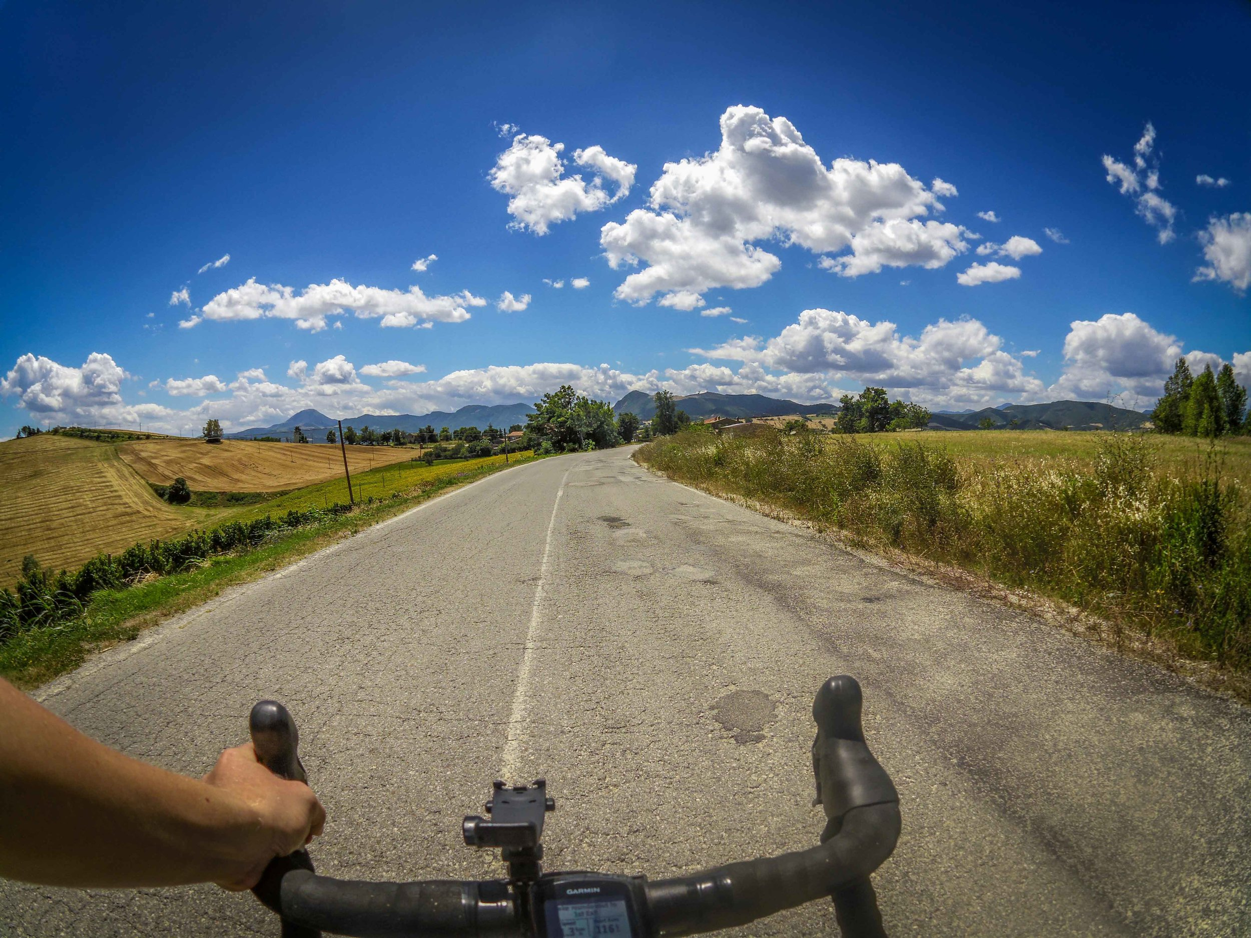 View from route between Castelplanio to Trivio.