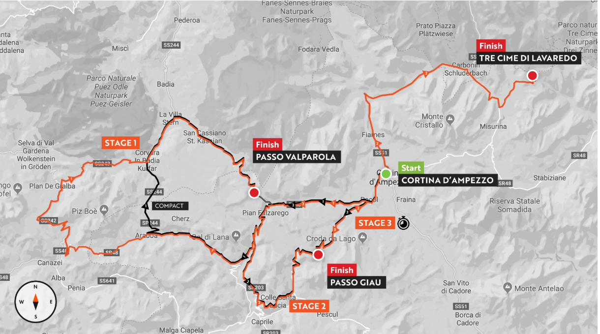 Route map (screenshot from: www.hauteroute.org)