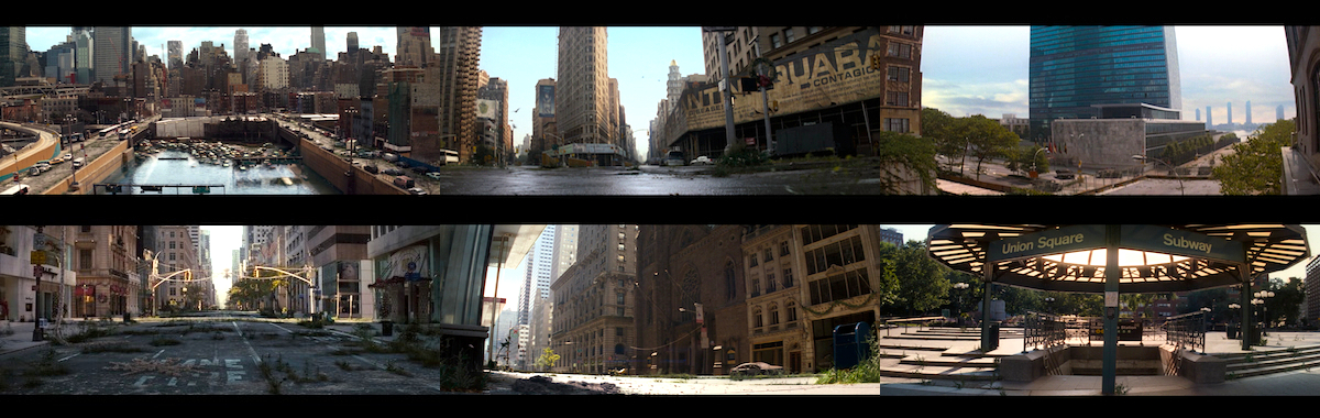 The opening six shots of  I Am Legend  [2007]